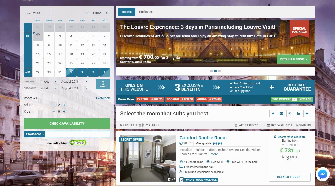 Digital marketing solutions and online commercialisation for hotels